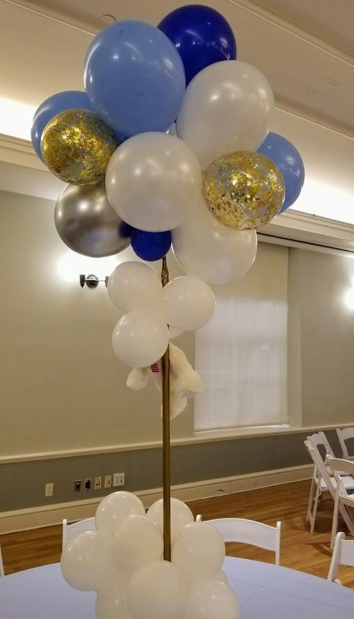 NJ Balloon centerpieces mini balloons clouds decorations