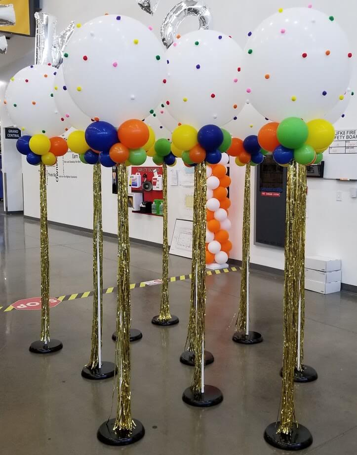 pom pom balloon big round balloons with mini balloons for grand opening New York New York