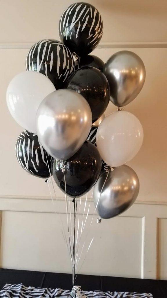 zebra theme balloons black silver white and zebra print balloon