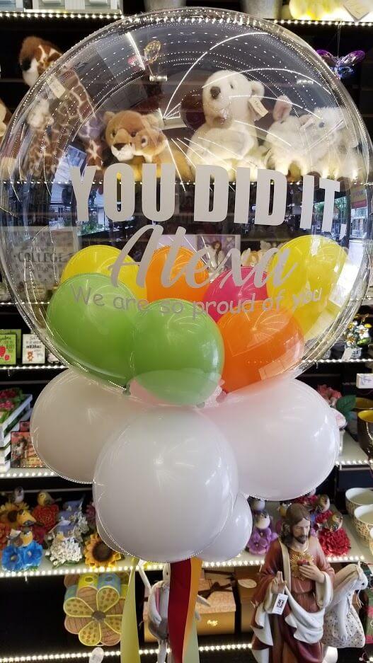 graduation gumball balloons