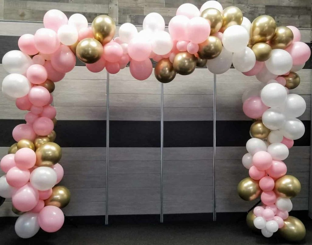 communion balloons garland arch for girl
