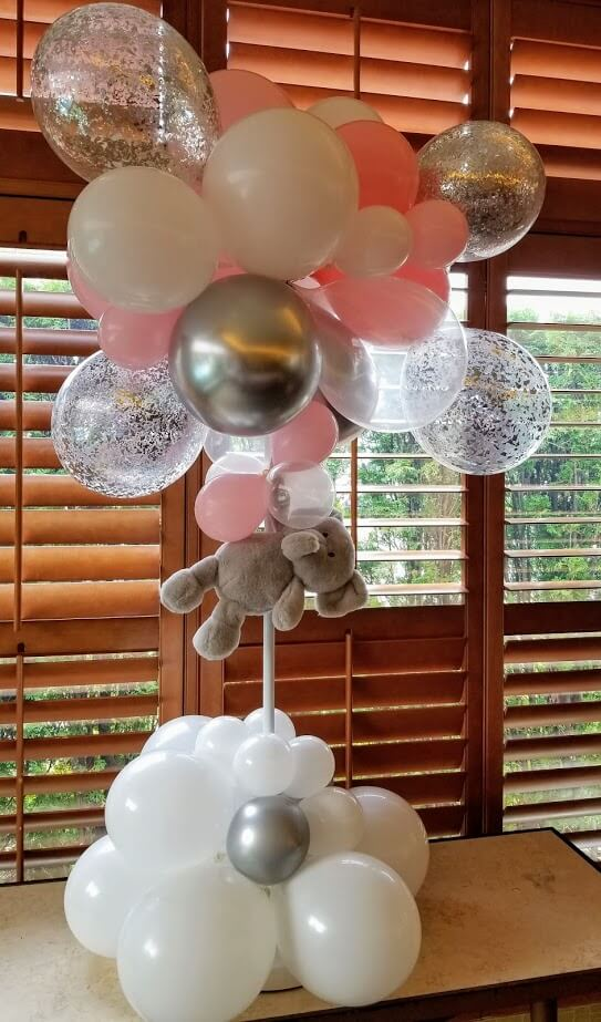 elephant theme first birthday balloons centerpiece