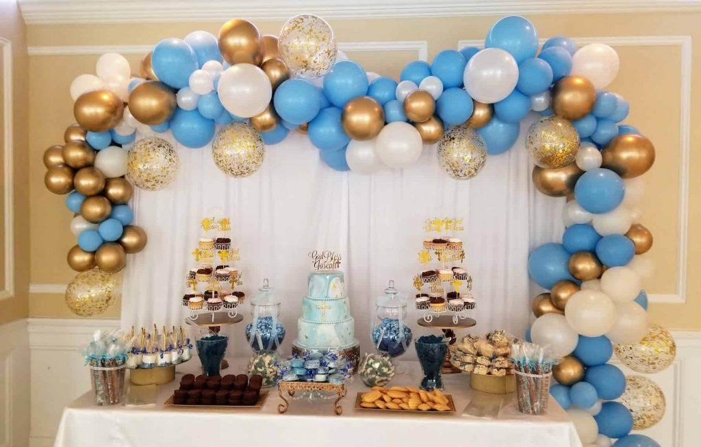 NJ Balloon garland arch for baby shower Jersey city New Jersey