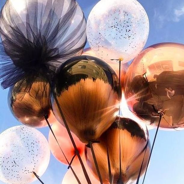 Valentine's Day Balloons Chrome Copper and Chrome Rose Gold Balloons for Valentine